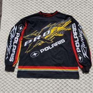 Vtg Polaris Pro X Racing Jersey Long Sleeve Shirt